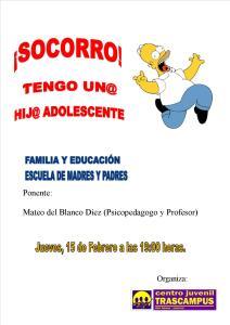Cartel escuela de padres imagen