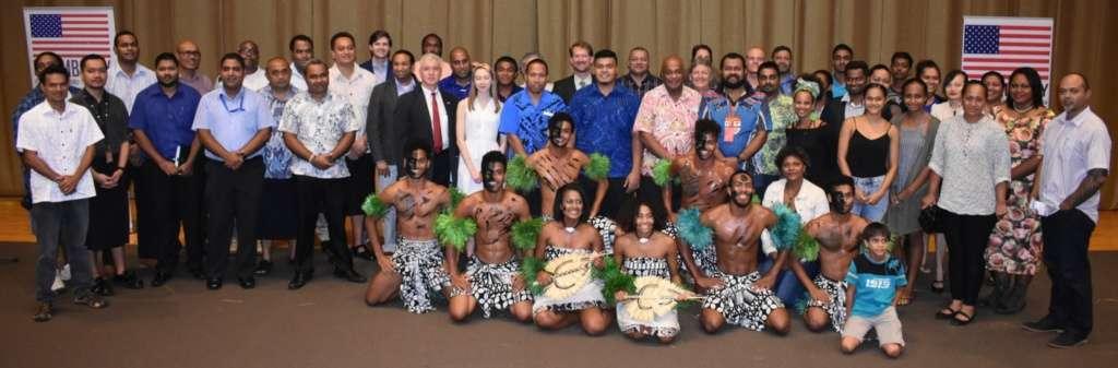 Participants of the Regional Blockchain TechCamp in Suva, Fiji