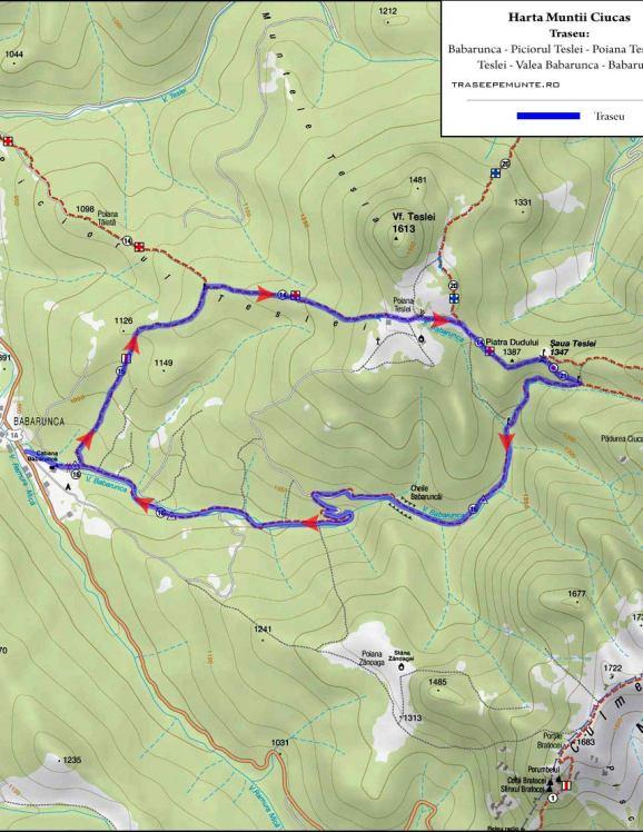 Harta Muntii Ciucas