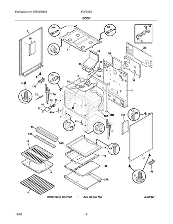 FGF355ASE Parts List