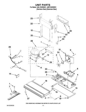 ABR192ZWES1 Parts List