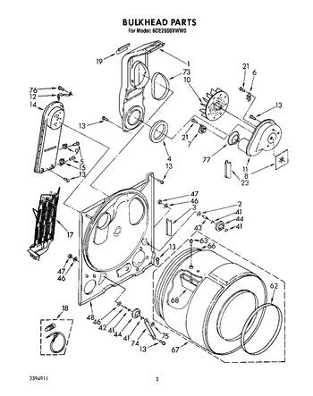 6CE2950XWN0 Parts List