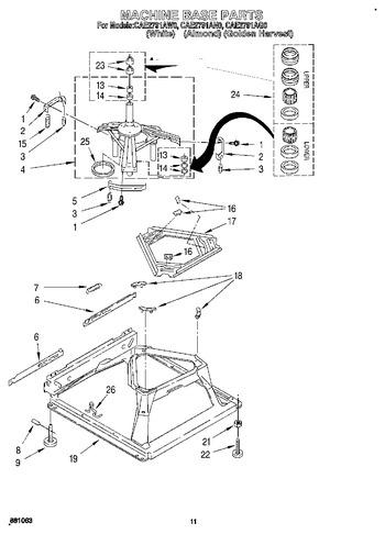 CAE2791AW0 Parts List