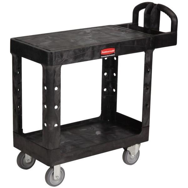 Small Heavy-duty Flat-shelf Utility Cart With 5
