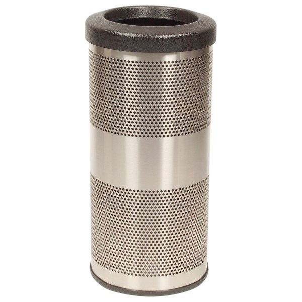 10 Gallon Stainless Steel Trash Perforated