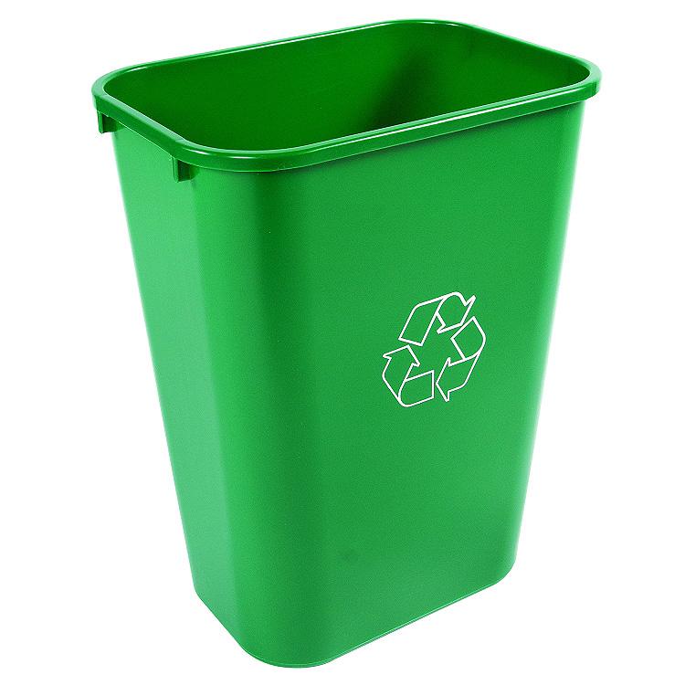 41Quart Recycling Baskets  Under Desk Waste Can  Trash