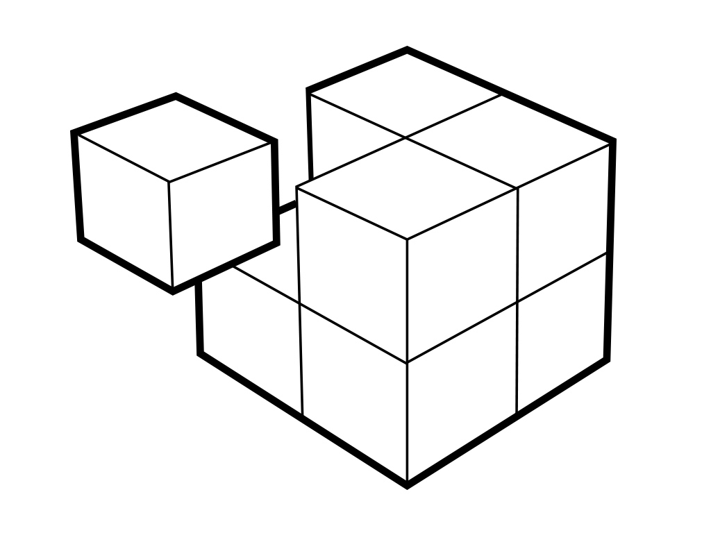 Isometric Paper Coloring Pages