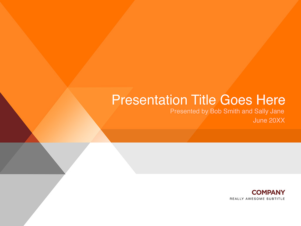 Orange and gray presentation template in Photoshop PSD format ...