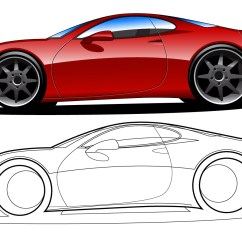 Vehicle Diagram Clip Art 2005 Ford Five Hundred Radio Wiring Side View Vector Line Drawing Of A Nissan Gt R