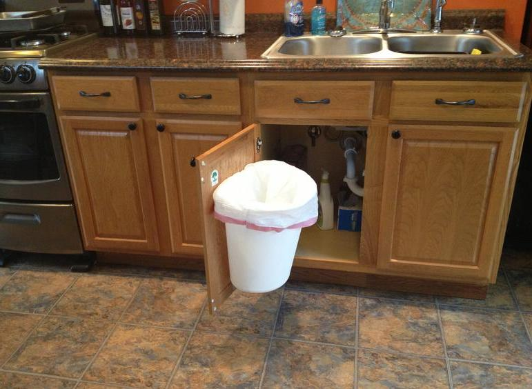 Cabinet Mount Trash Can  Trash Can holder 6184104649