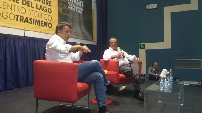 Castiglione, Matteo Renzi alla festa PD, aiutiamo l'Umbria a riprendersi dal terremoto