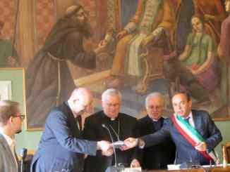 Giacomo Dalla Torre a Magione con Gualtiero Bassetti Massimo Alunni Proietti e Giacomo Chiodini