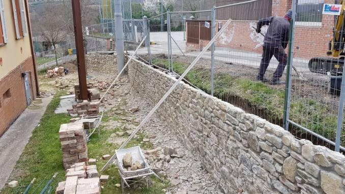 Piegaro, lavori in corso negli spazi esterni della Scuola Materna