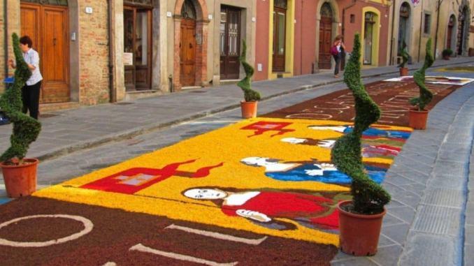 Città della Pieve, dedicata al genio di Leonardo la 54esima edizione dell'Infiorata