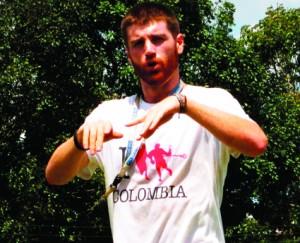 Miles Makdisi, un norteamericano que impulsa este nuevo deporte en Pereira.