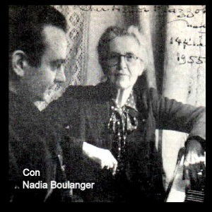 Imagen tomada de: Nadia Boulanger  y Ástor Piazzolla. Tomada de: http://leovigodaklezmer.blogspot.com/2010/10/la-gloria-de-astor-2.html