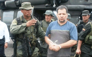 """Captura de Daniel Rendón Herrera alias """"Don Mario"""", en el año 2009. Foto:Policía Nacional de Colombia"""