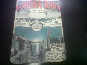 Poster de a presentación de Opera Rap en Bogotá
