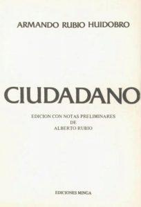 Poemario ¨Ciudadano¨. Archivo tomado de Memoria Chilena, biblioteca nacional de Chile
