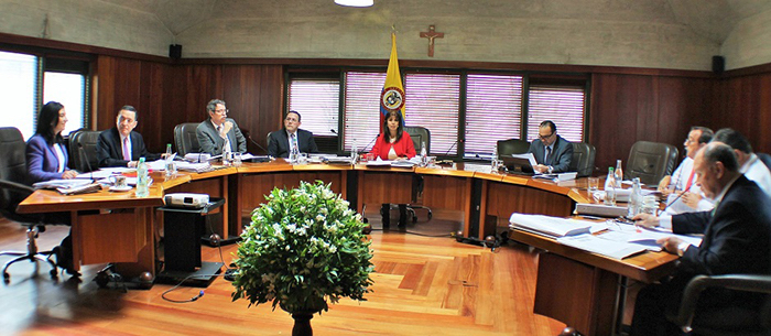 Magistrados de la corte Constitucional. Foto: Corte Constitucional de Colombia