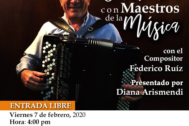 Federico Ruiz estará este viernes en Encuentro con Maestros de la Música