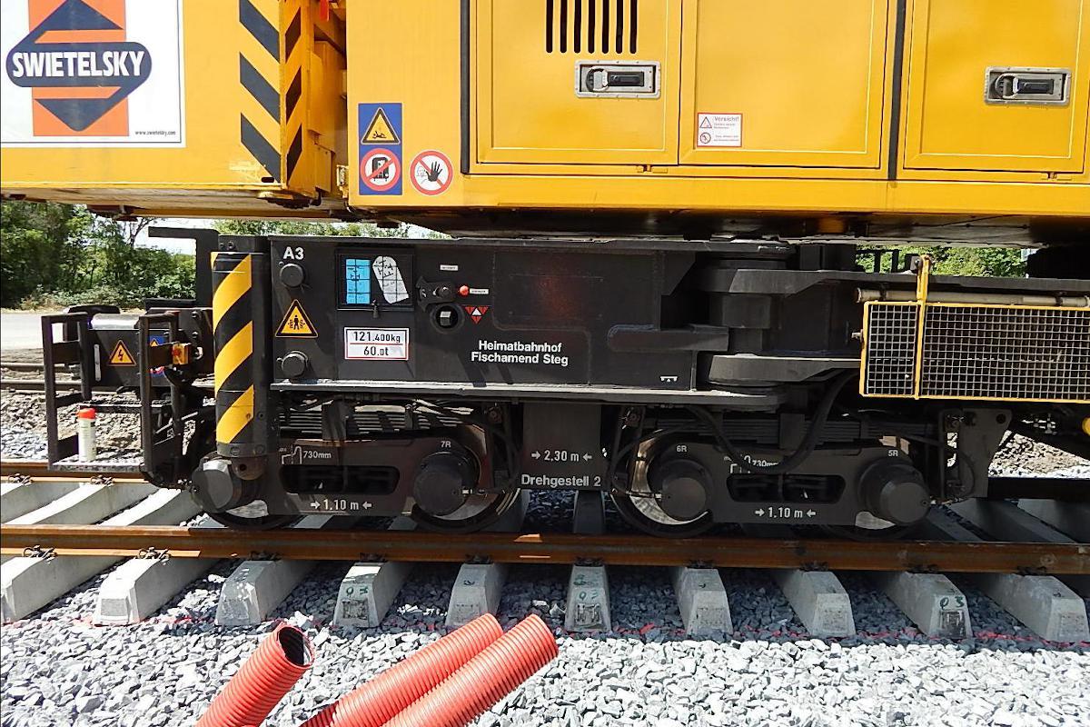 Detail zadního podvozku.