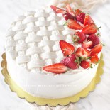 Torta crema chantilly e fragole
