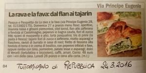 """""""TuttoMilano"""" Repubblica 24.3.2016"""