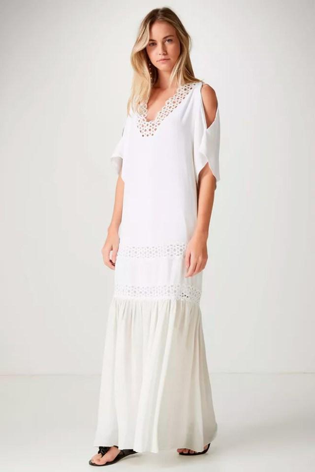 66a1170fe Quero comprar  vestido branco. Vestido branco com renda guipure Animale