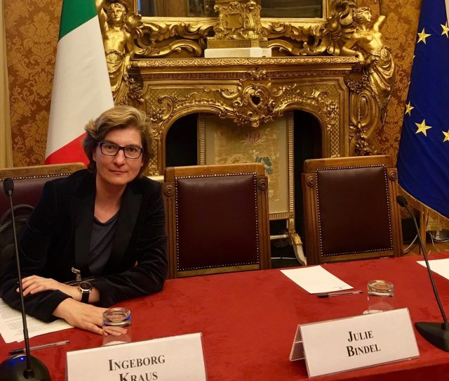 Speech By Dr Ingeborg Kraus At The Italian Parliament In Rom