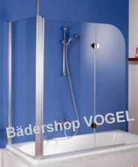 Badewannenaufsatz Duschwand zweiteilig mit Seitenteil 75 ...