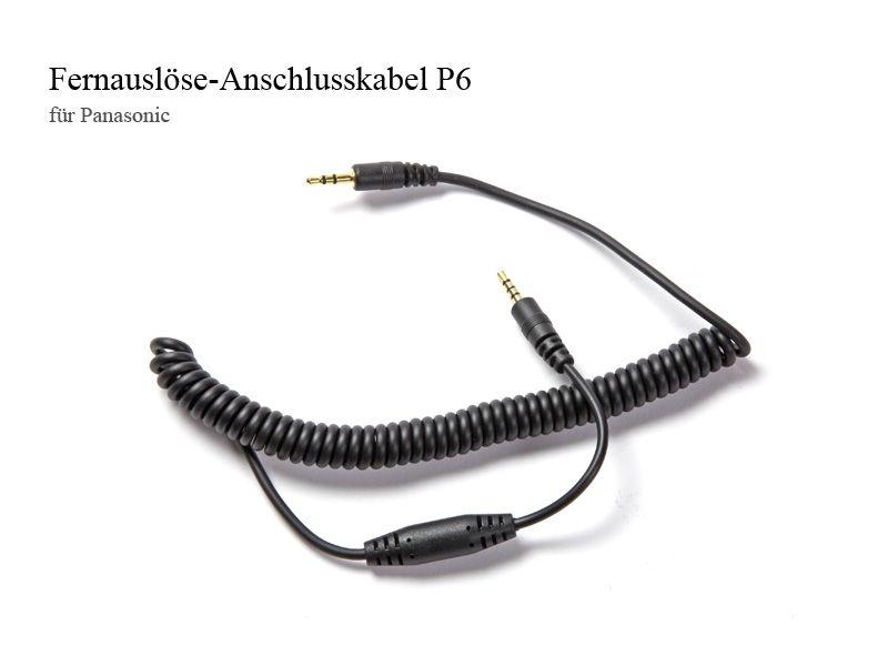 Fernauslöse-Anschlusskabel P6, für Panasonic und Leica