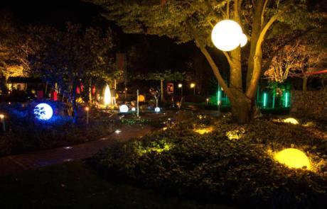 Gartenbeleuchtung im Schaugarten Kleve