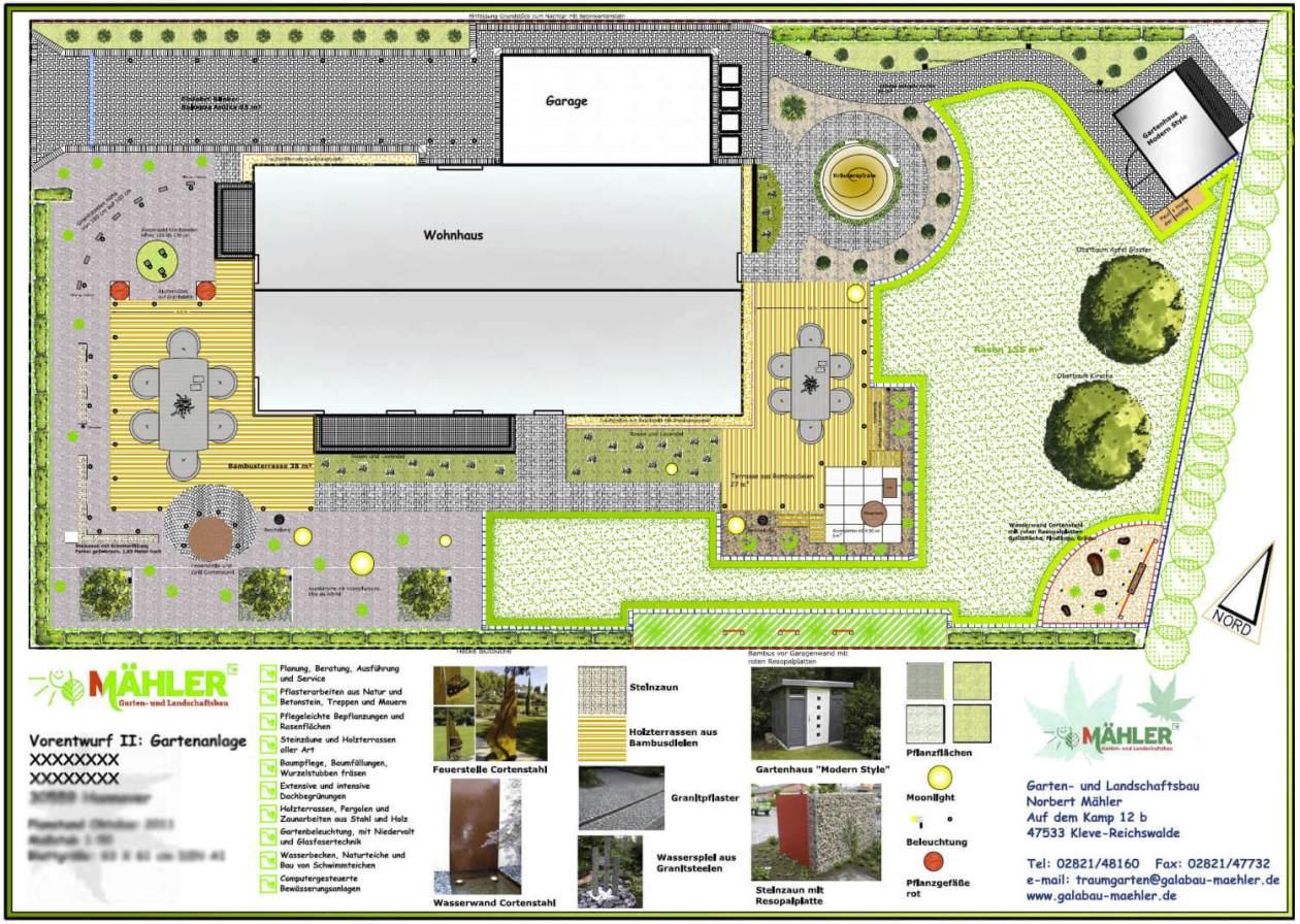 Gartenplan exklusiver Garten