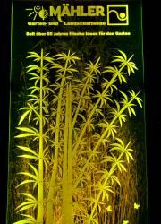 Licht mit Plexiglas Garten