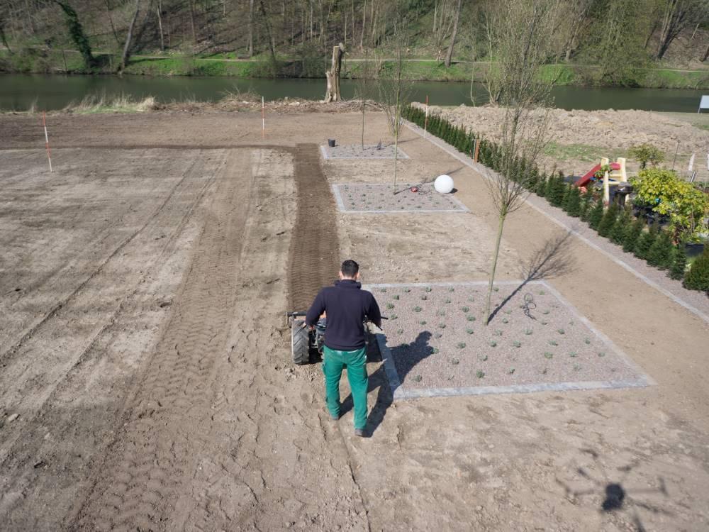Herstellen von Rasenflächen
