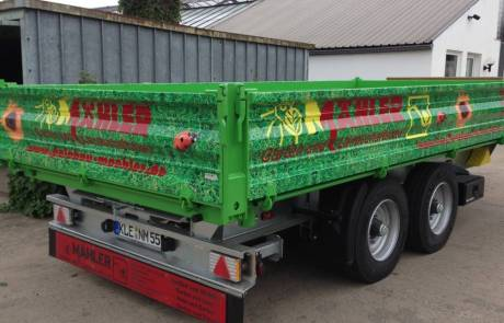 Tieflader-Kipper 11 Tonnen