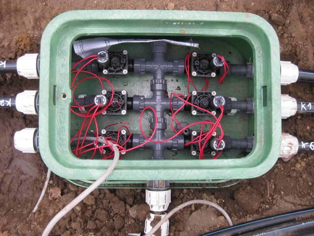 Montage Bewässerungsanlage