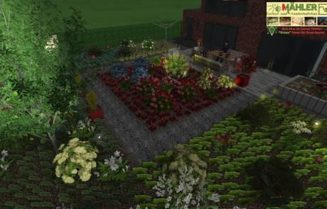 3D Beleuchtungsplan von Traumgarten