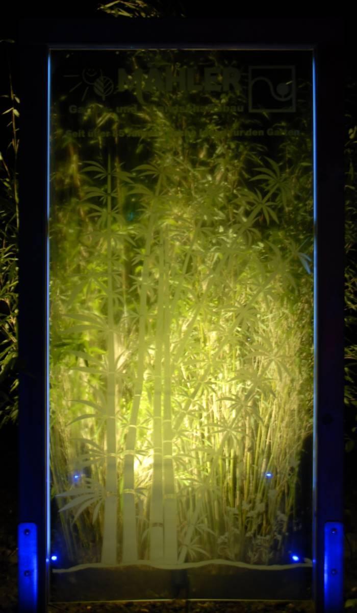 Acrylglas Licht Garten