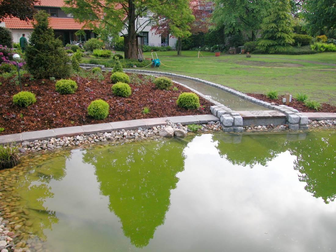 Bachlauf Galabau Mähler Wasserlauf Garten