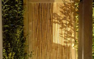 Holzzaunelement aus Bambus