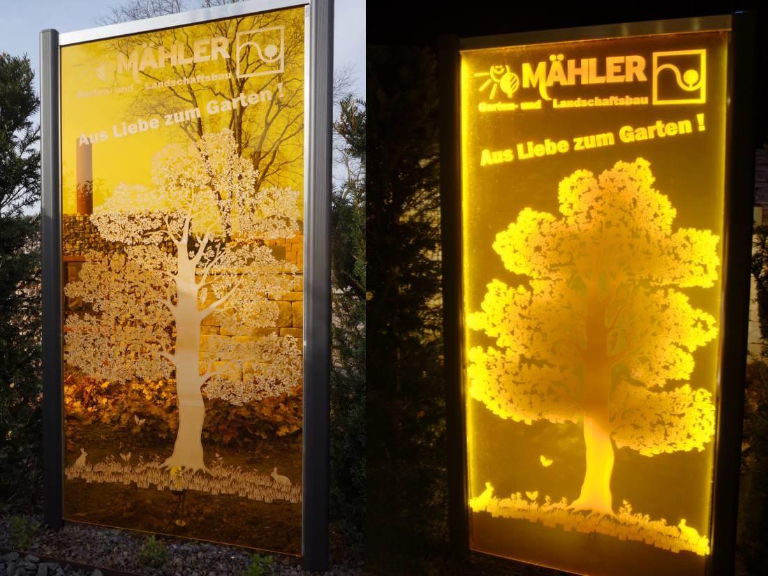 Plexiglas Gartenbeleuchtung | Galabau Mähler | Acrylglas