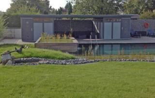 2 Stück Gartenhaus ´Modern Style´mit Flachdach verbunden