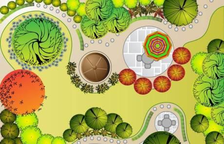 Gartenplan für einen Hausgarten in Goch