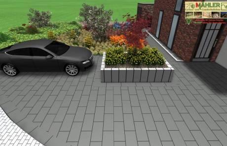 3D Planung eines Vorgarten in Kleve