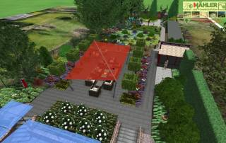 Gartenplanung Hausgarten Kleve 3D