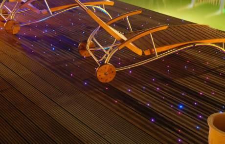 Glasfaser Sternenboden