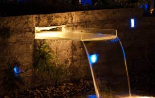 LED Beleuchtung Wasserfall