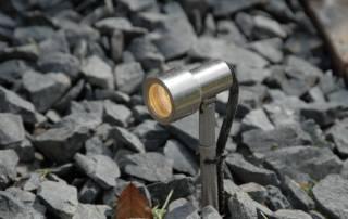 LED Strahler Edelstahl 1 Watt